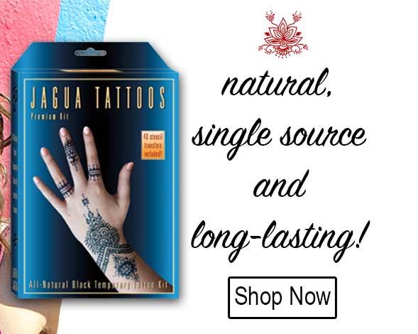 Earth Henna Mehndi Black Jagua Temporary Tattoos Body Art Kits