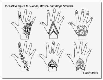 Hands Wrists Rings Stencil Examples