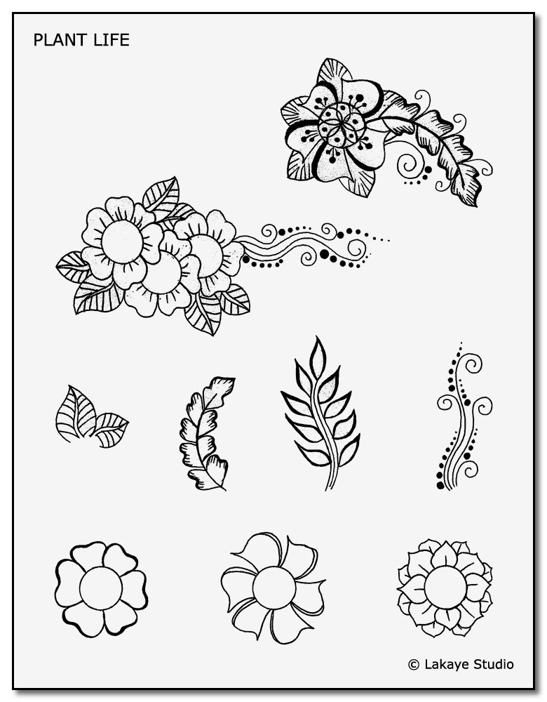 image about Printable Henna Stencils called Down load Our No cost Non permanent Tattoo Stencils