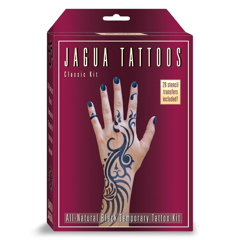 Earth jagua temporary tattoos buy online black temp tat kits earth jagua classic kit plum front solutioingenieria Choice Image