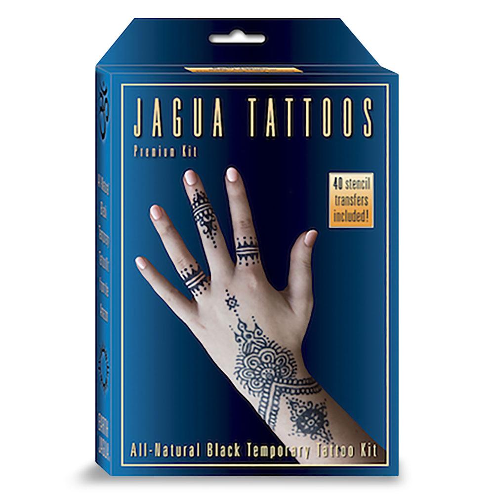 Earth jagua premium all natural black temporary tattoo kit for Temporary tattoo kit online