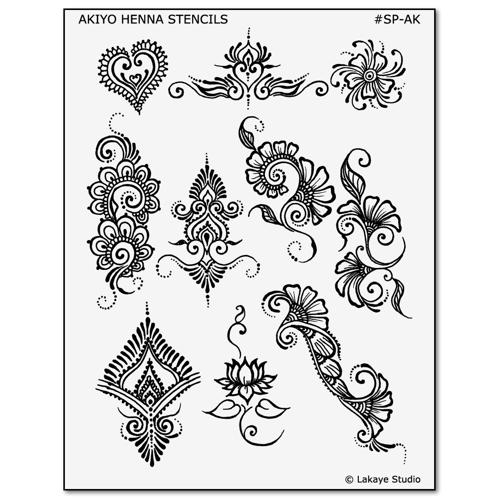 Akiyo Henna Tattoo Designs Henna And Jagua Body Art Stencils Mehndi