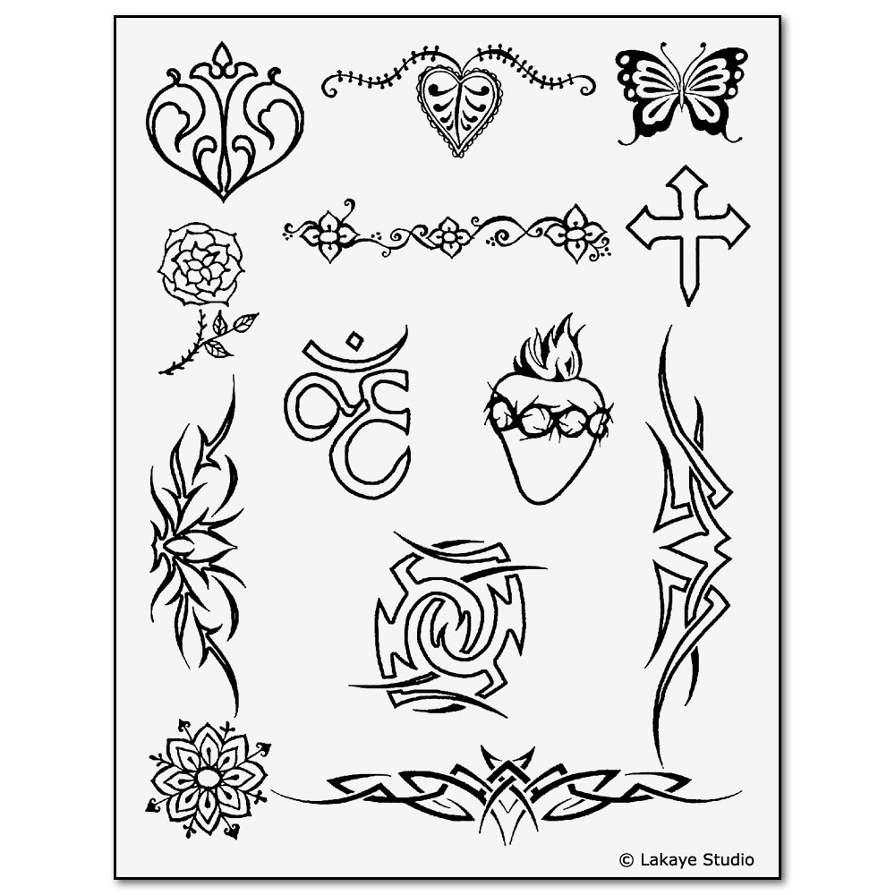 Earth Jagua Tattoo Stencil Transfer Sheet #1