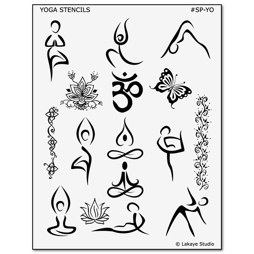 Yoga Symbol and Pose Tattoo Designs