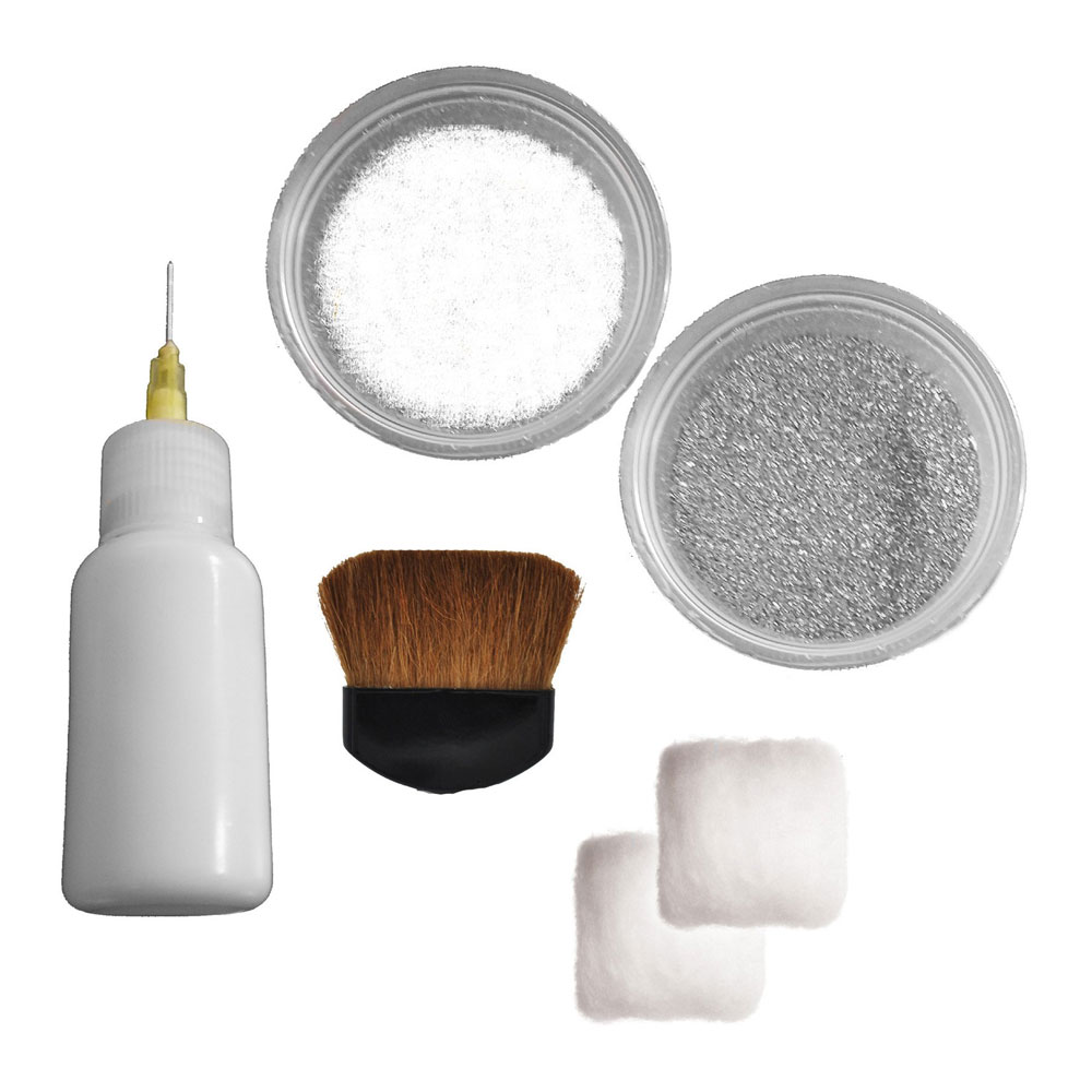 White and Silver Henna Tattoo Kit - Contents