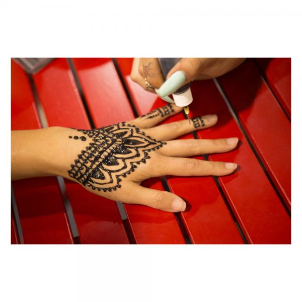 Henna Tattoos Everything You Need To Know 100 Great: Earth Jagua Classic (Plum) All-natural Temporary Tattoo