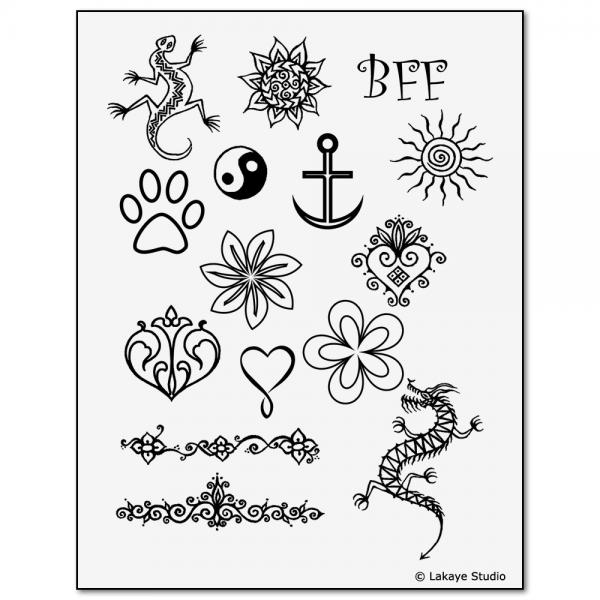 Earth Henna Kids' Kit Tattoo Stencil